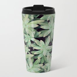 Succulent Abstract Metal Travel Mug