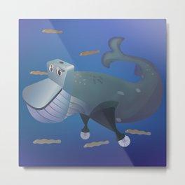 Wc of Whale Metal Print