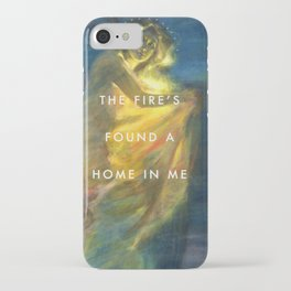 Woman Clothed with the Yellow Flicker Beat iPhone Case