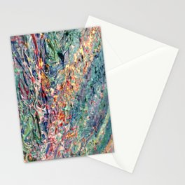 Bloom - palette knife abstract floral painting by Adriana Dziuba Stationery Cards