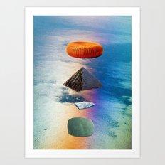 pyramid stack Art Print