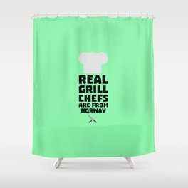 Real Grill Chefs are from Norway T-Shirt D8cv1 Shower Curtain