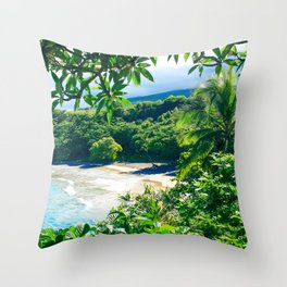 Hamoa Beach Hana Maui Hawaii Throw Pillow