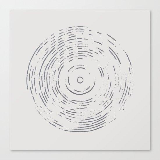 Record Black and White Canvas Print