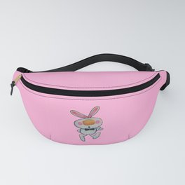 Cute White Cartoon Thumbs Up Bunny Rabbit Pink Fanny Pack