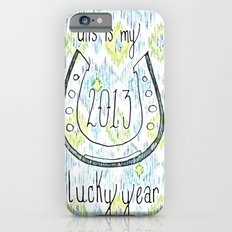 2013 - My Lucky Year Print, hand lettered horse-shoe iPhone 6s Slim Case