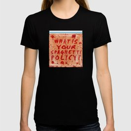 What is your spaghetti policy? -Always Sunny- Fan art T-shirt