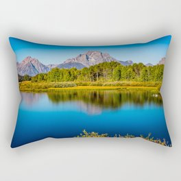 Oxbow Bend - Mt Moran in the Grand Tetons Rectangular Pillow