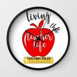 Teacher Life Teaching Rules School Funny Lesson Preschool Kindergarten Wall Clock