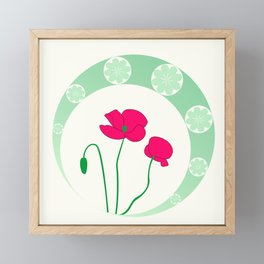Poppies Framed Mini Art Print