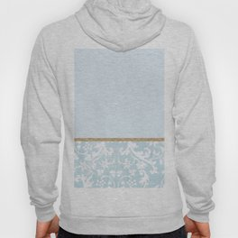 Duck egg blue porcelain floral Hoody