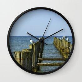 Pilings Wall Clock
