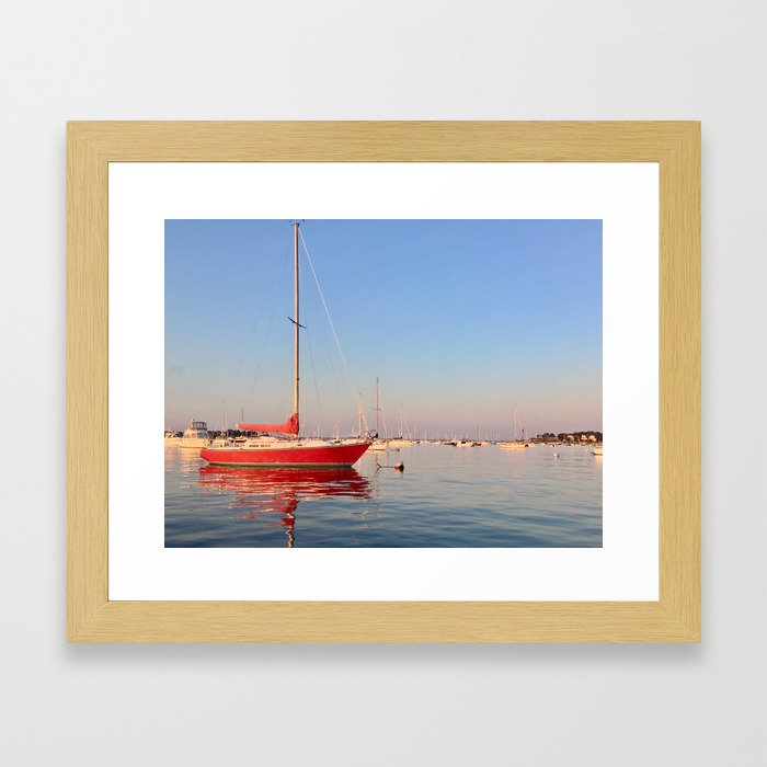 Red, Right, Return. Framed Art Print