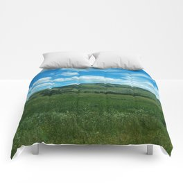 green and blue rapsody Comforters