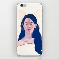 kitsune iPhone & iPod Skins featuring Kitsune by days & hours