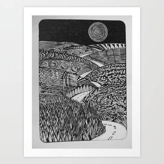 Black Mountain Pass Art Print