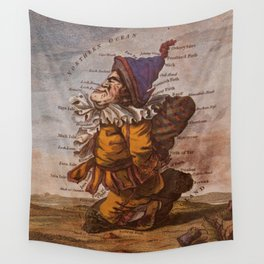 Vintage Illustrative Map of Scotland (1794) Wall Tapestry