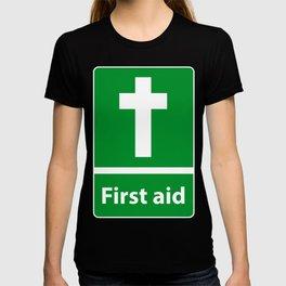 First Aid Cross - Christian Sign Illustration T-shirt