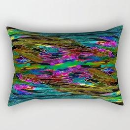 Evening Pond Rhapsody - Digital painting Rectangular Pillow