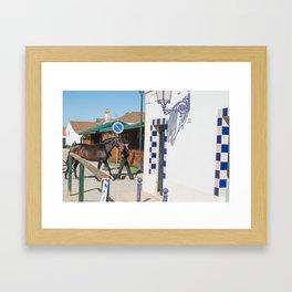 le cheval de Golega Framed Art Print