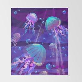 Electric Bloom Throw Blanket