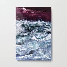Abstract Ocean Waves Metal Print