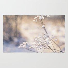 Snowy meadow Rug