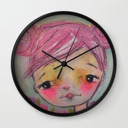 pinky girl Wall Clock