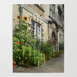 Flower Gardens at Christs College, Cambridge Poster