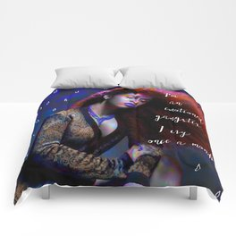 Cardi B - emotional gangster quote Comforters