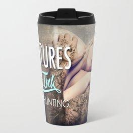 Fractures in Ink Travel Mug