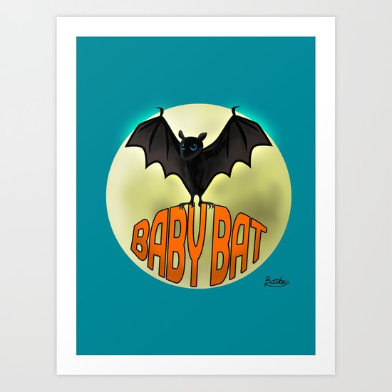 BABY BAT2 Art Print