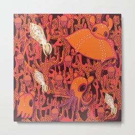 Dumbo Octopi & Squid Metal Print