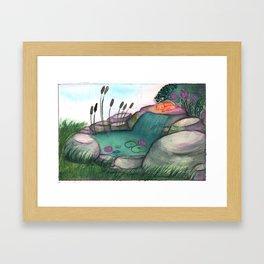 Solar (piece of peace) Framed Art Print