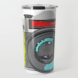 Pop Art Vintage Camera Travel Mug