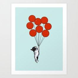 I Believe I Can Fly French Bulldog Art Print