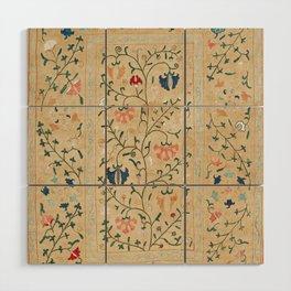 Uzbekistan Suzani Nim Embroidery Print Wood Wall Art