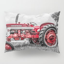 IH 240 Side View Selective Red Farmall Tractor Pillow Sham