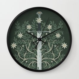 Flame of the West Wall Clock