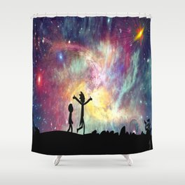 The universe is a pretty big place. If it's just us, seems like an awful waste of space Shower Curtain