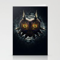 majora Stationery Cards featuring Epic Pure Evil of Majora's Mask by Barrett Biggers