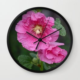 Hollyhock Wall Clock
