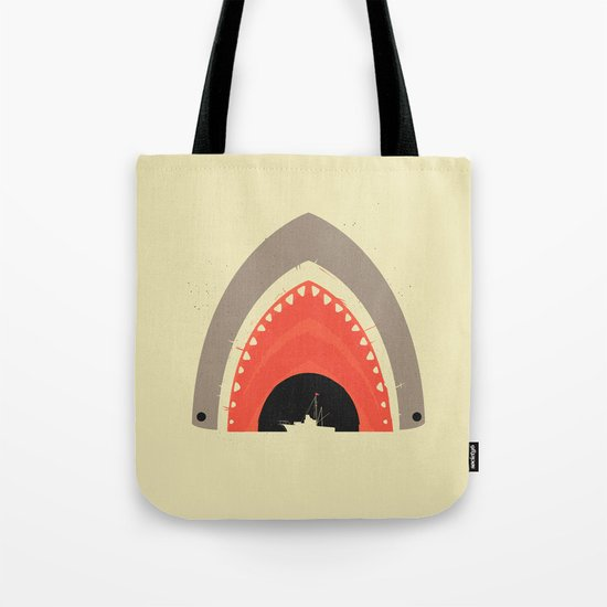 Great White Bite Tote Bag