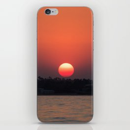Really red sun iPhone Skin