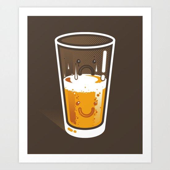 Pessimistic Optimist - alt version Art Print