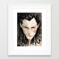 loki Framed Art Prints featuring Loki by Rosaria Battiloro
