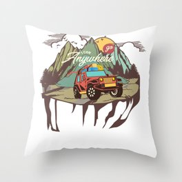 Off road, vehicle, mudding Throw Pillow