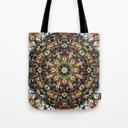 Boho Geometric Mandela Pattern 1 Tote Bag