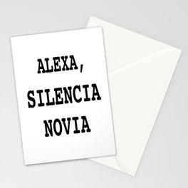 Alexa, Silencia Novia - Espanol (Silence Girlfriend, Spanish) Stationery Cards