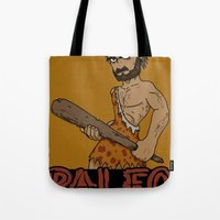 crossfit Tote Bags featuring Paleo Before It Was Cool Crossfit Design by RonkyTonk by RonkyTonk